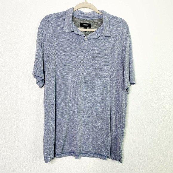 Nordstrom Mens Large Heathered Regular Polo Shirt